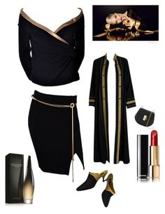 """""""Black Tie Event"""" by kotnourka ❤ liked on Polyvore featuring Donna Karan, Thea Porter, Chanel and Chloé"""