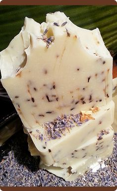 Orange Lavender Herbal Natural Soap, so creamy and bubbly. #naturalsoaps #handmadesoap #lavender