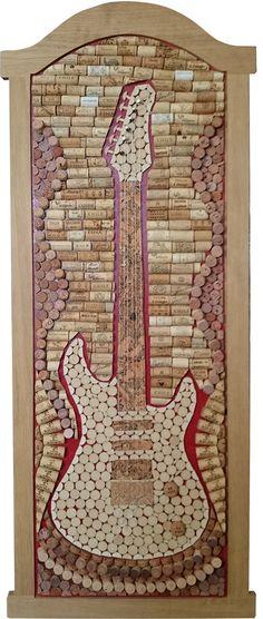Guitar made of wine cork. More at korkowo.com