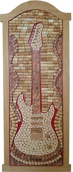 Guitar made of wine cork. More at korkowo.com