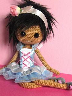 Puppi Crocheted Doll by ladynoir63, via Flickr