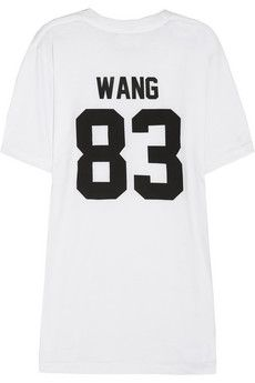 LPD New York Team Wang printed cotton-jersey T-shirt | NET-A-PORTER