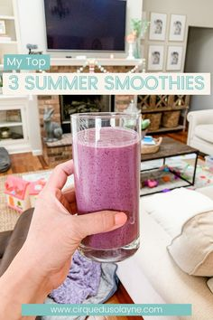 Smoothie recipe; healthy smoothies; summer smoothie recipes; easy smoothies; easy smoothie recipe; fruit smoothie; protein smoothie; vegan smoothie; smoothies for kids Banana Protein Smoothie, Vanilla Protein Shakes, Vanilla Smoothie, Protein Smoothie Recipes, Vanilla Protein Powder, Vegan Smoothies, Easy Smoothies, Smoothie Ingredients, Fruit Smoothies