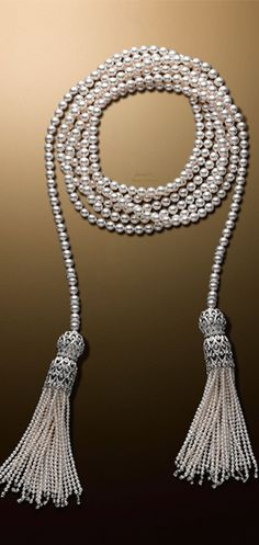 Skipping Rope-Necklace-(約3m25cm)¥30,000,000- mikimoto Tokyo marie mimran- - Don't be tricked when buying fine jewelry! Follow the vital rules at http://jewelrytipsnow.com/a-simple-guide-to-purchasing-fine-jewelry/