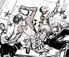 Morgana, Akira, Futaba, & Sojiro | Persona 5