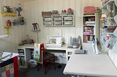 I'm going to play like there is a quilt machine just out of camera range, making this a perfect sewing/quilting studio.
