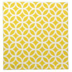 Geometric Cloth Napkin in Freesia Yellow