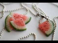 Polymer Clay Watermelon Cane Tutorial - YouTube