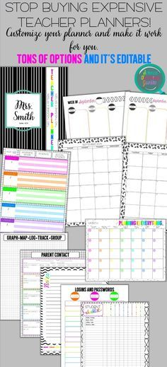 The Deluxe Teacher Lesson Planner Goals?, Deluxe and Student - product data sheet template