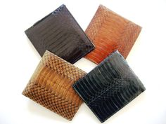 CHRIS - 100% Handmade Authentic Exotic Cobra Snake Leather Designer Mens Wallet