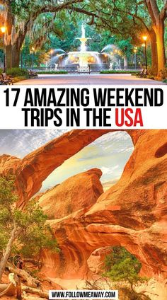 17 Amazing Weekend Trips in the USA   Best Weekend Getaways in the USA   best usa weekend trips   romantic getaways in usa weekend trips   weekend trips in usa   usa weekend getaways road trips   weekend trips usa national parks   best weekend trips in the us   best vacation destinations in the us   vacation spots in united states   weekend getaways in the us   travel usa weekend getaways   best romantic weekend getaways in us   usa travel   #weekendtrips #weekendgetaways #usa