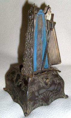 """Beautiful antique metronome @La Farme / Anne / La Farme / La Farme  Gina """"The choir director always used a metronome (not a fancy one like this one though) when I sang in the German choir as a child... EL DUECK"""