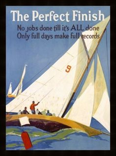 vintage sailing posters | Vintage posters framed to exhibit printed area only, excess margins ...