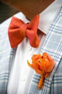 For a southern wedding orange and blue. #Groomsmen