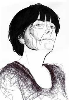 Art, Portrait. Ink & Ballpen. Retrato. Ainhoa Azumendi