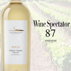 """#VIGNETI DEL #VULTURE #Greco-#Fiano Basilicata #Pipoli 2015 Score: 87 #WineSpectator  """"Light-bodied and fresh, with a hint of salinity accenting the flavors of ripe apricot, juicy green pear and candied mandarin orange. Floral and mineral notes linger on the finish. Drink now."""""""