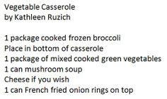 Vegetable Casserole by Kathleen Ruzich