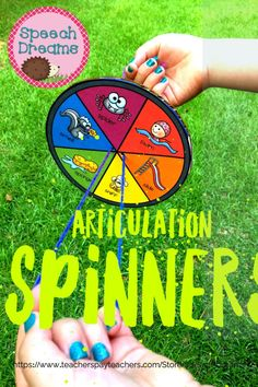 Your speech therapy students will love to create a spinner craft this spring or summer! It will cover targets activities for articulation and will be perfect for mixed groups. Check out the companion language spinner craft. #speechtherapy #languagetherapy #articulation Receptive Language, Speech And Language, Speech Therapy Activities, Craft Activities, Phonological Processes, Articulation Therapy, Therapy Ideas, Special Education, Students