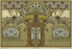 Richard Kühnel. Some of the Art Nouveau plates from Dekorative Vorbilder, a series devoted to the decorative arts published in Germany from 1895 on.