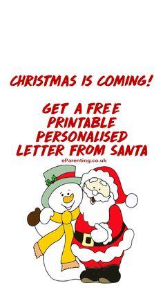 Santa Letter Template, Santa Letter Printable, Father Christmas, Christmas Is Coming, Christmas Printables, Free Printables, Parenting, Messages, Templates
