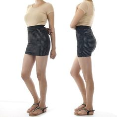 ebclo - Gold Studded Bodycon Mini Skirt  SPECIAL!  $10.00 Free Domestic Shipping