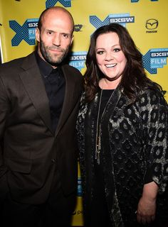 """Actor Jason Statham (L) and actress Melissa McCarthy arrive at the premiere of """"Spy"""" during the 2015 SXSW Music, Film + Interactive Festival at the Paramount on March 15, 2015 in Austin, Texas."""