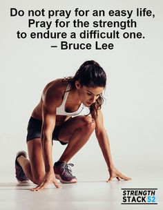 Difficulty things are the only things that make us stronger.