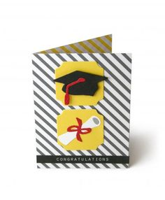 Graduation invatation. Place childs cap and gown picture inside with the information for the Big Day!