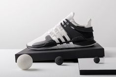 sneakers for cheap 8f9f5 27bf2 adidas Originals Debuts the EQT ADV Support in a Bold Monochrome Colorway