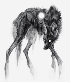Draw Creatures Evergloom, print - Made in-house and signed with love :) Creepy Drawings, Dark Art Drawings, Creepy Art, Animal Drawings, Dark Artwork, Drawing Animals, Fantasy Creatures, Mythical Creatures, Art Sinistre