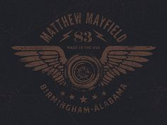 Mayfield designed by Jeff Breshears. Connect with them on Dribbble; Icon Design, Logo Design, Graphic Design, Automotive Logo, Custom Helmets, Zine, Harley Davidson, Design Inspiration, Letters