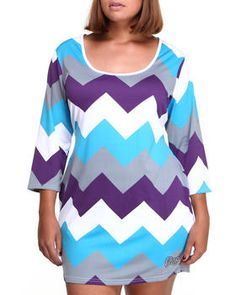 Buy Zig Zag Dress (Plus) Women's Dresses from COOGI. Find COOGI fashions & more at DrJays.com