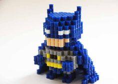 sandylandya@outlook.es  Batman Perler Beads 3D figure