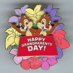 Grandparents Day Cards, National Grandparents Day, Grandmother's Day, Famous Cartoons, Chip And Dale, Mickey Mouse And Friends, Celebration Quotes, Message Card, Bowser