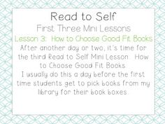 School Is a Happy Place: The Daily Five: The Big Three (Mini Lessons to Launch Read to Self and a FREEBIE) Grade 2, Third Grade, Daily 5 Rotation, Read To Self, Daily Five, First Grade Teachers, Big Three, Teacher Blogs, Guided Reading