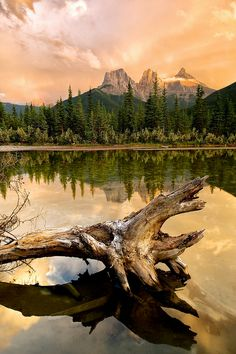 Three Sisters Sunset, Canmore Alberta