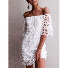 White Sundress, White Mini Dress, White Lace, White Summer Dresses, Dress Summer, Half Sleeve Dresses, Dresses With Sleeves, Sleeved Dress, Half Sleeves