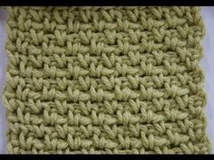 Learn more about the Granite Stitch aka Moss Stitch and see the crochet symbol chart at  ... . Crochet, How, Stitch, Crochê,