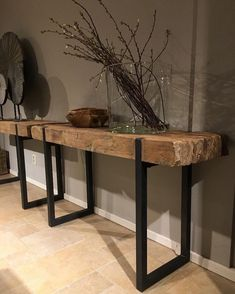 Sidetable massief teakhout met zwart stalen frame – Tafels – Collectie – Looiers… What's Decoration? Decoration is the art of … Industrial Furniture, Wood Furniture, Industrial Decorating, Furniture Design, Diy Casa, Unique Coffee Table, Coffee Tables, Into The Woods, Living Room Decor