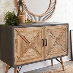 Rustic 2 Door Storage Cabinet