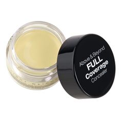 """you know how they always are like """"recreate kim kardashians look!"""" but all the products are like 50 bucks and from mac? here is one of the BEST highlighters and its only $5.00! above and beyond full coverage concealer from NYX in yellow. because being a poor college student is what its all about."""