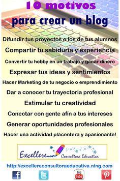 Cómo crear y gestionar un blog. 10 Motivos para crear un blog - Excellere Consultora Educativa