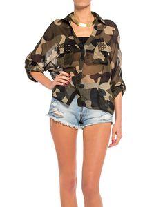 Chiffon Camouflage Blouse