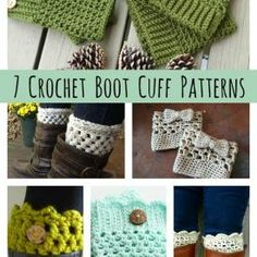 DIY Crochet Boot Cuff Patterns {7 Free Designs}I can't do this but here it is bc they're so cute! Crochet Shoes, Knit Or Crochet, Crochet Basics, Quick Crochet, Tunisian Crochet, Crochet Things, Crochet Leg Warmers, Chrochet, Learn To Crochet