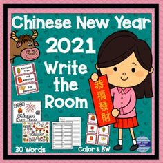 Chinese New Year 2021 is the year of the Ox! Learn about the festivities with this Write the Room that includes a variety of literacy activities. Print on card stock and laminate for reuse and durability. What is Included?30 Word Wall Chinese New Year Vocabulary Cards30 Picture / Word Cards30 Pic...