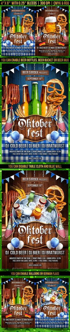 #Oktoberfest #Party #Flyer Template - Clubs & Parties Events Download here:   https://graphicriver.net/item/oktoberfest-party-flyer-template/20452585?ref=alena994