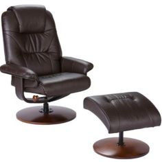 Chace Bonded Leather Recliner & Ottoman Set - JCPenney