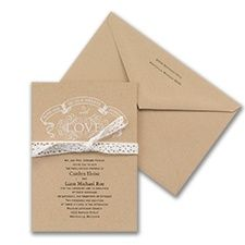 Love and Joy - Invitation. Quaint Wedding Stationery.