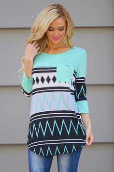 """Take A Chance Top - Neon Mint from Closet Candy Boutique Code """"repjennifer""""=10% off and FREE shipping!"""