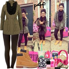 Passion 4Fashion: Airport Here I Come!!! by shygurl1 on Polyvore featuring polyvore fashion style Brave Soul Forever 21 Timberland Victoria's Secret PINK MARC BY MARC JACOBS Paula Bianco NARS Cosmetics Victoria's Secret Butter London Beats by Dr. Dre